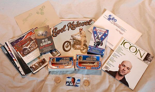 Evel Knievel Album Diecasts Video Coins & More