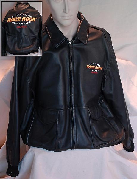 Race Rock Of Orlando Black Leather Jacket