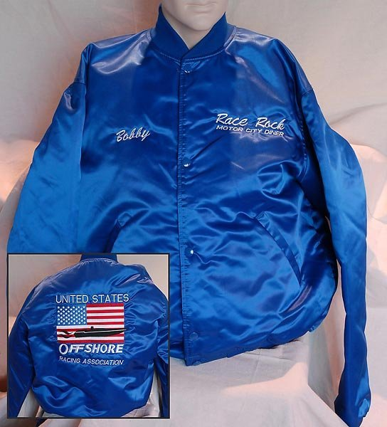 Race Rock Motor City Diner Blue Vinyl Jacket