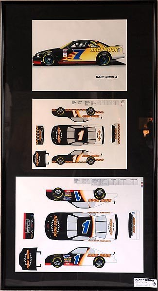 Race Rock 4 Die Cast Car Plans Framed Art #1 #7