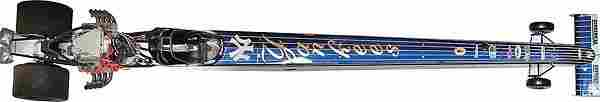 2001 Mike Dunn New York Yankee Top Fuel Dragster