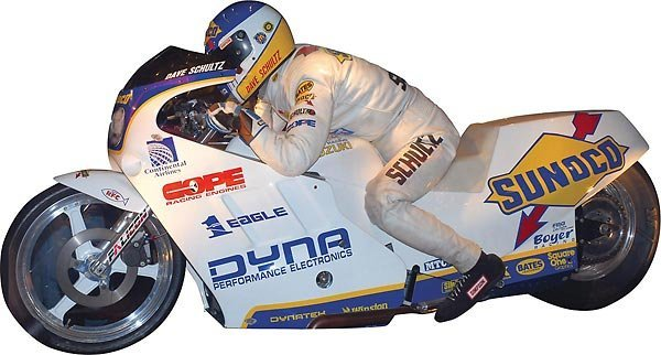 94 Dave Schultz Sunoco Suzuki Drag Bike Race Used