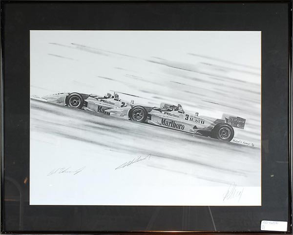 503: Michael Savage Artwork Sketch Signed Al Unser Jr