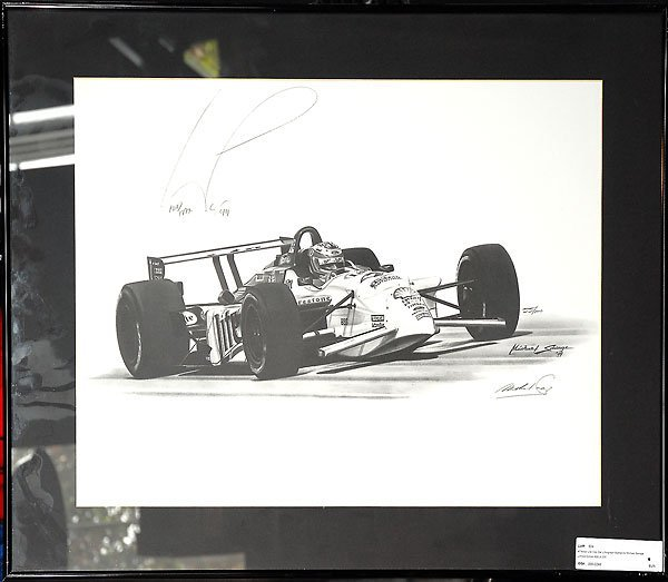 504: Miller Lite Indy Car Lithograph Signed By Savage