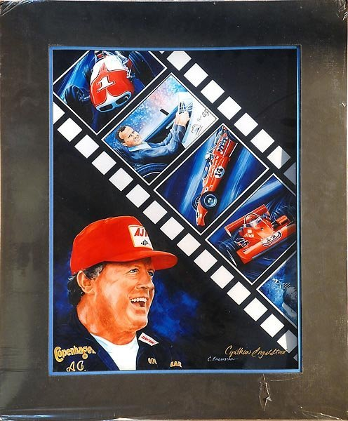 506: AJ Foyt Headshot W/Film Reel Artwork