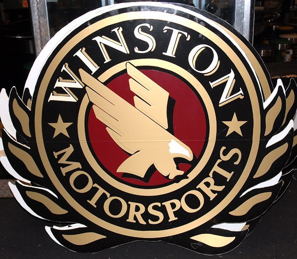 508: Winston Motorsports Sign Black From Resturant
