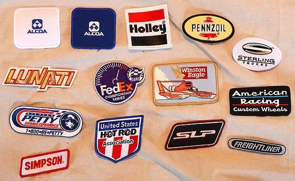 511: Huge Box Of Misc. Racing Patches - Petty-Holley++