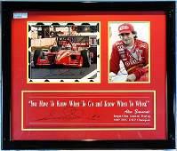 583: Alex Zanardi Framed Cart Artwork Lot