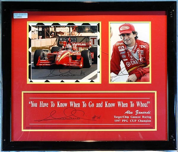 583: Alex Zanardi Framed Cart Artwork Lot