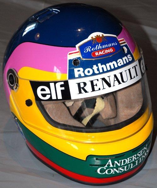 693: Jacques Villeneuve Rothmans F1 Helmet Race Used - 2
