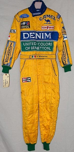 716: Andrea Montermini Denim/Benetton F1Race Used Suit