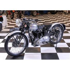 155: Ultra Rare 1938 Triumph T90 Tiger Motorcycle