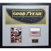 176A: Framed Signed Mario Andretti Lotus F1 Rear Wing