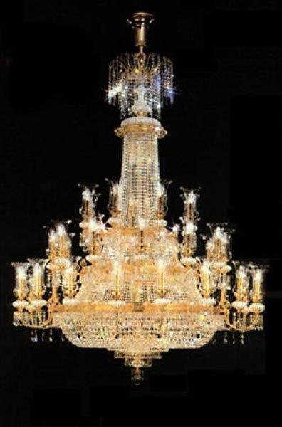 40010: Grand Ballroom Large Crystal Chandelier