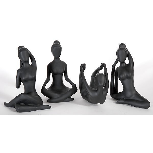 40013: Abstract Yoga Statue Collection Free Shipping