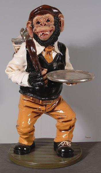 20069: Monkey Golfer  Statue (3ft)