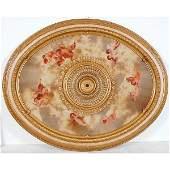 20223: Oval Ceiling Mount Medallion)