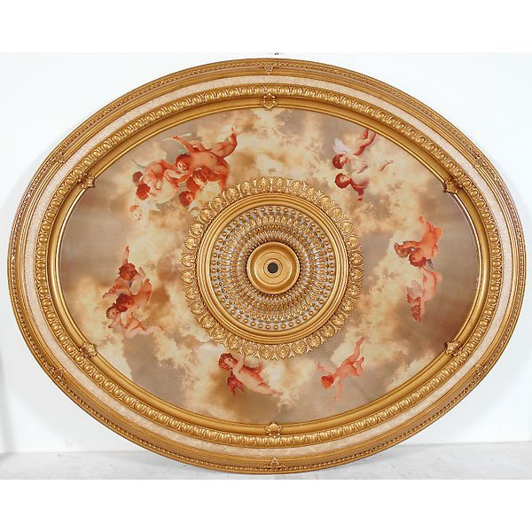 20223: Oval Ceiling Mount Medallion)