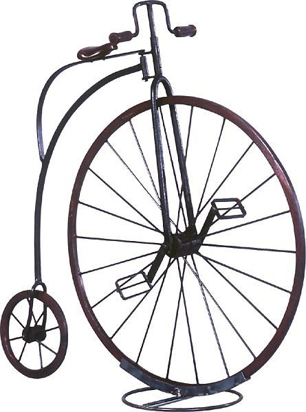 40006: Small Penny Farthing with Stand