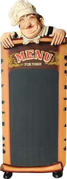 40010: Standng Cook w Chalkboard(6ft)