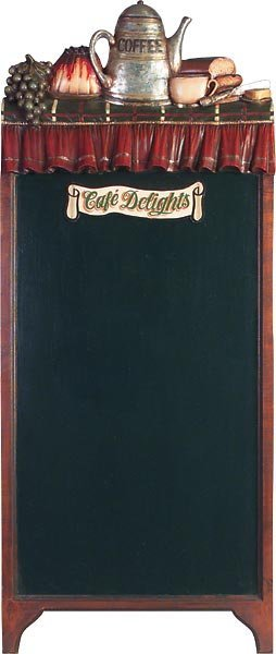 40011: Cafe Delights Chalkboard w Stand