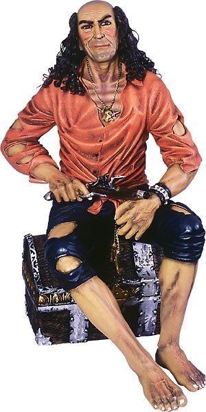 40012: Pirate on Treasure Box Statue