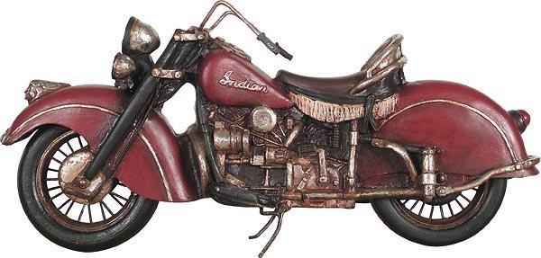 40022: Indian Motorbike Statue