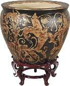 40106: Carved Royal Fish Bowl