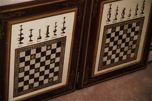 "Art- ""Chess""- Set Of 2"