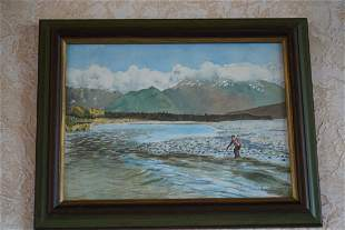 """Painting Signed - """"Eglintone River New Zealand"""""""
