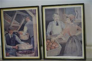 Antique Art- Signed J. ANDERSON 67- Lot Of 2