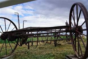 Antique Farm Implement/ Equipment. Antique Hay Rake!
