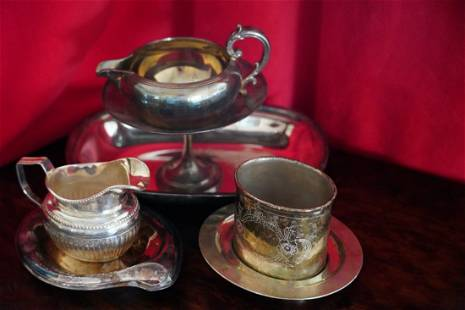 1847 Silver plated Dishes. Group 1