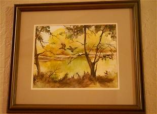 """Painting """"Fall"""" Signed"""