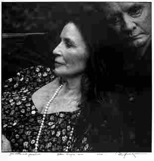 ANNIE LEIBOVITZ June Carter and Johnny Cash, Hiltons,