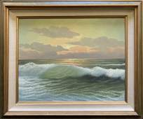 One of A Kind Original Seascape Oil On Canvas
