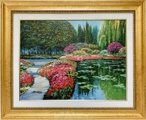 Howard Behrens Giclee on canvas Overpainted by Artist