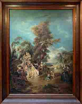 Astonishing Vintage Large Original Oil On Canvas