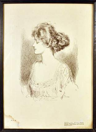 Collectible Portrait of Lady By Gibson