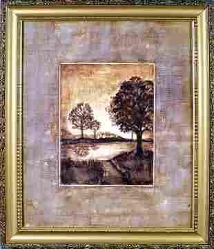 Trees & Lake Monotone