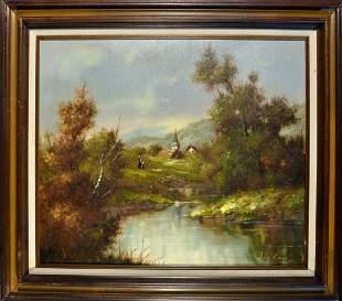 Landscape, by Hans Runge(GERMAN 1895-1961)