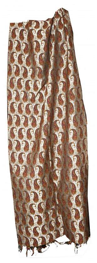 Extremely Rare Fabric Uncut Persian Silk Termeh