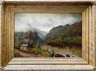 Vintage Original Oil on Canvas by M.S. Wilmshurst