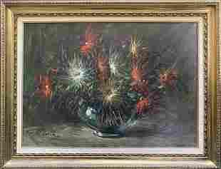 Beautiful Still life of Flowers Original Oil on Canvas