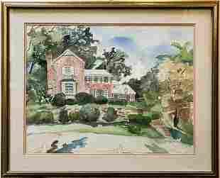 Original House Portrait Watercolor Painting