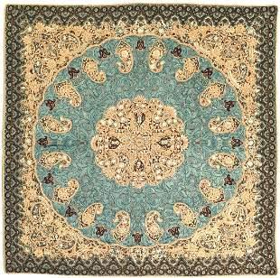 Blue Diamond Persian Silk Termeh