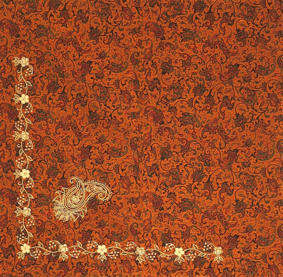 Flower of The Deseret Persian Silk Termeh