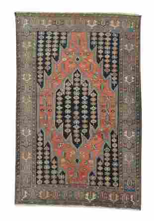 Antique Maslaghan Persian Rug, Circa 1900