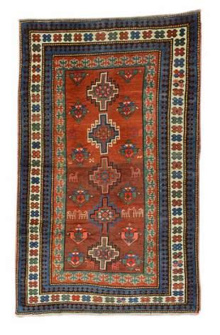 Antique Kazak Caucasian Rug, Circa 1890