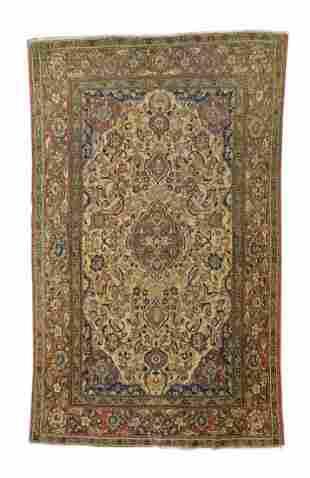 Antique Haji Jalili Tabriz Persian Rug, Circa 1890